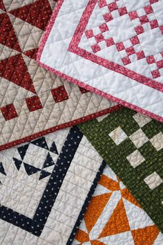 Temecula Quilt Co - Sneek Peek - Two Color Doll Quilts