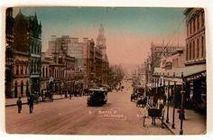 Bourke Street, Melbourne, looking east, c1908. Photograph courtesy National Museum Australia