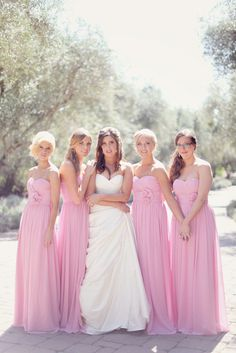 I don't usually like long bridesmaids dresses but these are so pretty!