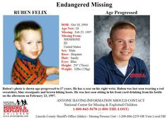 2/6/2013: Posted at the request of Ruben's aunt Steaphanie Antill Felix: Please share to locate... pinned with Pinvolve