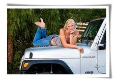Senior pictures ... Sophie's beloved Jeep (http://www.breakaway-grads.com)