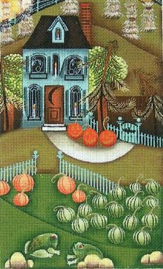 click here to view larger image of Haunted House (hand painted canvases) from Stitch Therapy
