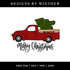 Free merry christmas truck svg file