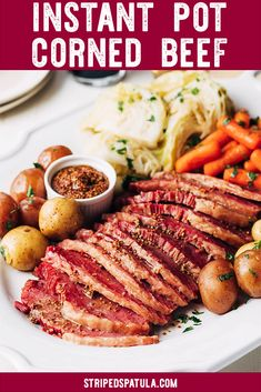 This tender, beer-infused Instant Pot Corned Beef and Cabbage recipe is the perfect way to celebrate St. Patrick's Day. Using the pressure cooker function makes it easy to cook a traditional corned beef dinner in less time. Pressure Cooker Corned Beef, Instant Pot Pressure Cooker, Pressure Cooking, Pressure Pot, Corned Beef Recipes, Crock Pot Corned Beef, Corn Beef And Cabbage, Cabbage Recipes, Recipes