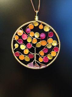 nail polish wire pendant