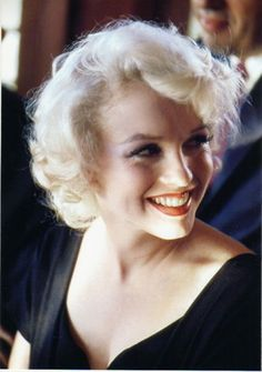 Marilyn Monroe.  This is such a different angle for her - just a gorgeous picture.