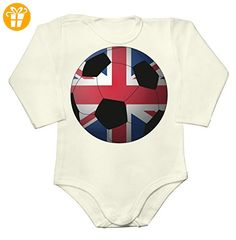 UK Great Britain Football 2016 Graphic Baby Long Sleeve Romper Bodysuit XX-Large - Baby bodys baby einteiler baby stampler (*Partner-Link)