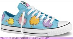 The style I really want is only available for toddlers!! Converse meets Dr. Seuss-how cool!