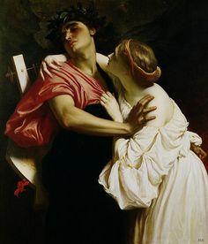 Orpheus and Eurydice. 1864. Lord Frederick Leighton.