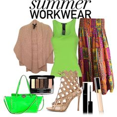 Summer workwear by kreatingeventsandmore on Polyvore featuring polyvore fashion style Ralph Lauren Black Label Gianvito Rossi Chanel
