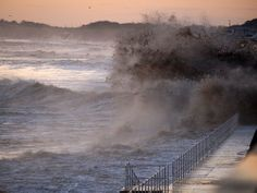 High Tide at Sunrise, Hornsea by Tom Wood East Yorkshire, High Tide, Natural World, Landscape Art, Niagara Falls, Coastal, Sunrise, Landscapes, Jewellery