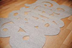 How to: Make a DIY Typographic Rug | Man Made DIY | Crafts for Men | Keywords: type, graphic, design, rug
