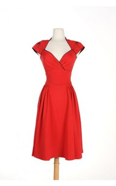 Luscious Dress in Red with Pinup Girl - Beautiful on a Budget - Collections | Pinup Girl Clothing