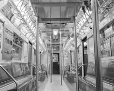 New York Subway Car Photo  new york city photography