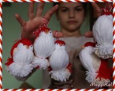 MaggiKal: Мартенски птички Pom Pom Crafts, Yarn Crafts, Diy And Crafts, Quilt Size Charts, Christmas Tree Toppers, Christmas Ornaments, Woolen Craft, Chicken Crafts, Yarn Dolls
