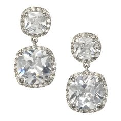 Anna Bellagio - Doria Cushion Cut Bridal Drop Earring, $58.00 (http://www.annabellagio.com/doria-cushion-cut-bridal-drop-earring/)