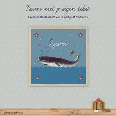 Bij Lievekaarten.nl bestel je een poster van je geboortekaartje óf een uit onze collectie voor de babykamer of kinderkamer.