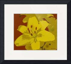 """""""yellow flowertif"""" by Teresa Burnham, Aliso Viejo //  // Imagekind.com -- Buy stunning fine art prints, framed prints and canvas prints directly from independent working artists and photographers."""