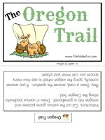 Oregon trail file folder game