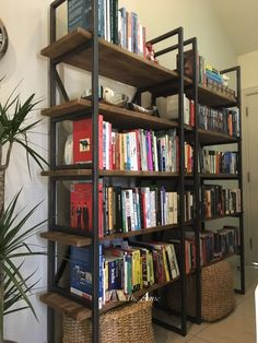 Fast selling recycled pine and metal industrial shelves  #wood #furniture #upcycle #gogreen #woodwork #dubai #abudhabi #uae #books #home #style #interior #design #theatticdubai