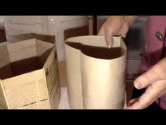 Изготовление картонной формы для плетения из газет. Часть 2. - YouTube