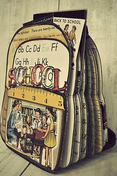 "great backpack shaped ""Back to School"" mini"