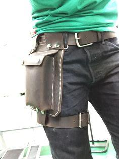 Leather holster bag