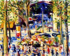 """Barcelone. La Rambla"" de Josep Mompou Dencausse (1888-1968, Spain)"