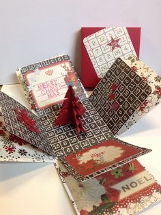Exploding box card for Christmas