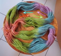How to count your color rows to determine the number of stitches needed for color pooling in knitting (or crochet)