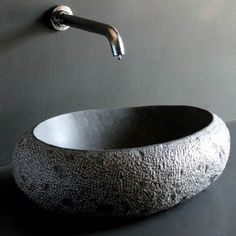 Black Granite Stone Pebble Cobble Marble Vessel Sinks Bowls Washbasins