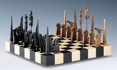 mid-century chess set