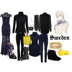 Aph Sweden by animedowntherunway on Polyvore