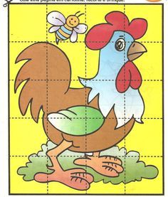 Puzzel free printable Maze Puzzles, Puzzles For Kids, Activities For Kids, Cartoon Cow, Magic Squares, Spring Theme, Free Preschool, Drawing For Kids, Kids Education