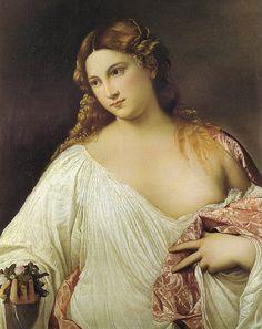 Titian - Flora at Uffizi Gallery, Florence Italy