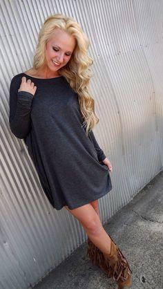 Deep Gray Piko Tunic/Dress