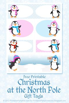 Free Printable Penguin Gift Tags - Aren't they just the cutest penguins? :)