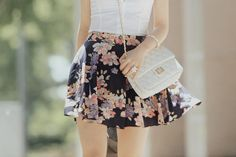 Image in Fashion collection by Yoselin on We Heart It Cute Fashion, Vintage Fashion, Vintage Style, Fashion Addict, Midi Skirt, High Waisted Skirt, Cute Outfits, Style Inspiration, My Style