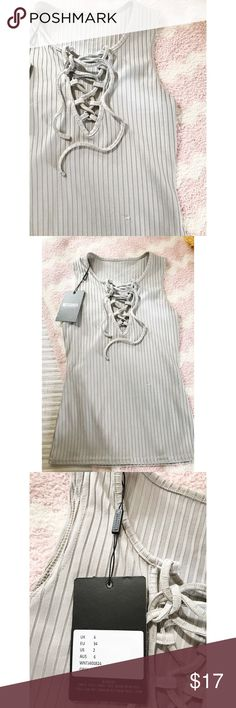 Missguided Lace Up Tank NWT. Mint condition! Missguided Tops Tank Tops