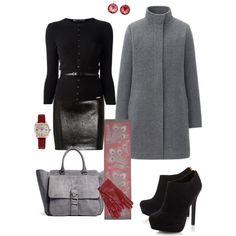 In black grey&red