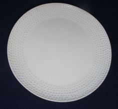 Pier 1 One Coupe White Sandy Lane Stoneware Salad Plate EYC Embossed Dots | eBay