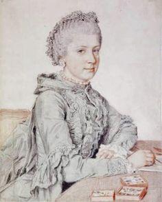 Jean-Etienne Liotard (Swiss-French artist, 1702-1789) Maria Christine, archiduchesse d'Autriche (1742-1798) 1762
