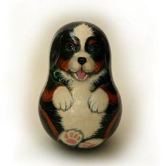 """матрёшка неваляшка  """"Джастин"""" (со звоном) цена 3000 руб. матрешка неваляшка щенок бернского зенненхунда (со звоном) Сделаем под заказ неваляшку вашего щенка по фото. Возможно с другим животным Матрёшка – это особенно притягательная и несущая в себе множество смыслов и символов игрушка."""