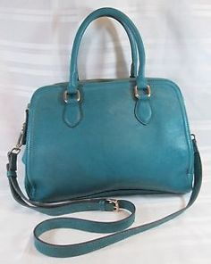 STREET-LEVEL-AQUA-COLOR-SATCHEL-CROSS-BODY-MEDIUM-HANDBAG-VERY-GOOD-CONDITION