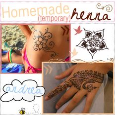 """+ - homemade henna (temporary) ; ♥"" by the-tip-nerds on Polyvore"