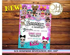 Printable & Customized Invitations and Party Decoration by ohmypartystudio Digital Invitations, Custom Invitations, Zombie Birthday Parties, Surprise Birthday Invitations, Toy Story Birthday, 7th Birthday, Birthday Ideas, Golden Birthday, Birthday Cakes