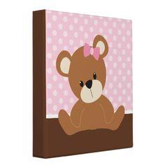 Pink Bear Vinyl Binder
