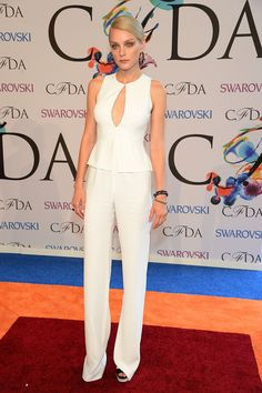 Model trio: Chanel Iman, Jessica Stam and Liya Kebede chose three very different but extremely stylish looks for the CFDA awards on Monday Jessica Stam, Celebrity Red Carpet, Celebrity Look, Celeb Style, Swarovski, Cfda Awards, Sheer Dress, Red Carpet Looks, Red Carpet Fashion