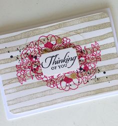 I found this on stampinup.com / thinking of you