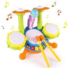 Rumas Gift Ideas Large Size Kids Drum Set for Kids Electric Toys Toddler Playset, Flash Light Musical Instruments Play Toys for Boys Girls * Find out more about the great product at the image link. (This is an affiliate link) Kids Drum Set, Drums For Kids, Toys For Boys, Kids Toys, Toddler Christmas Gifts, Top Christmas Gifts, Toddler Gifts, Holiday Gifts, Play Cube